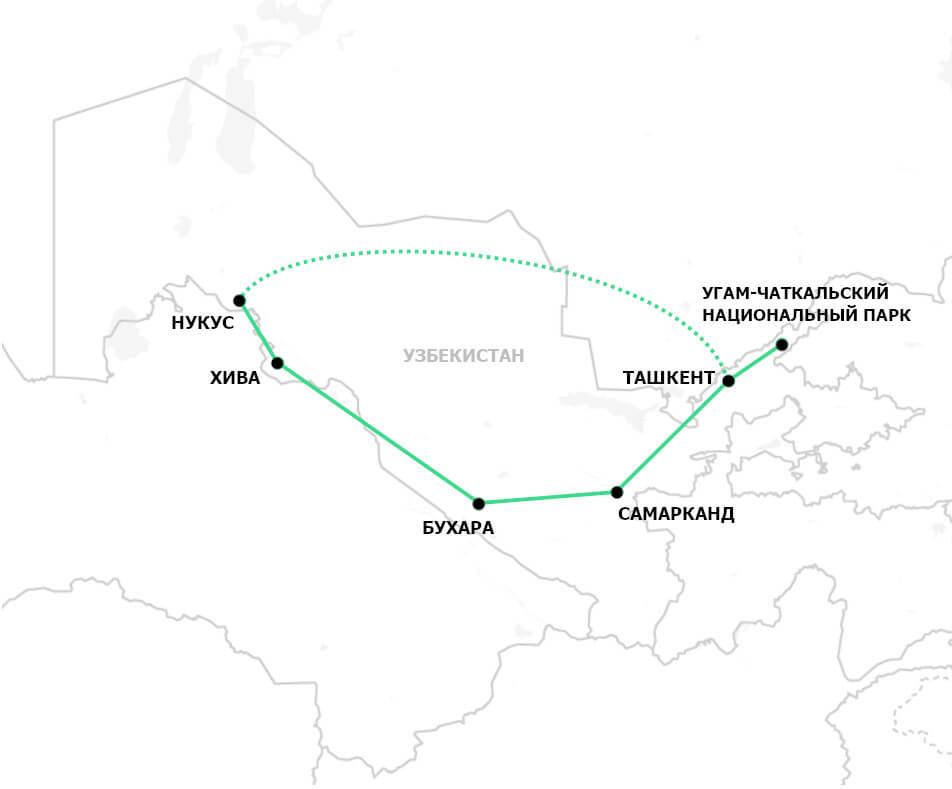 Тур лучшее Узбекистана