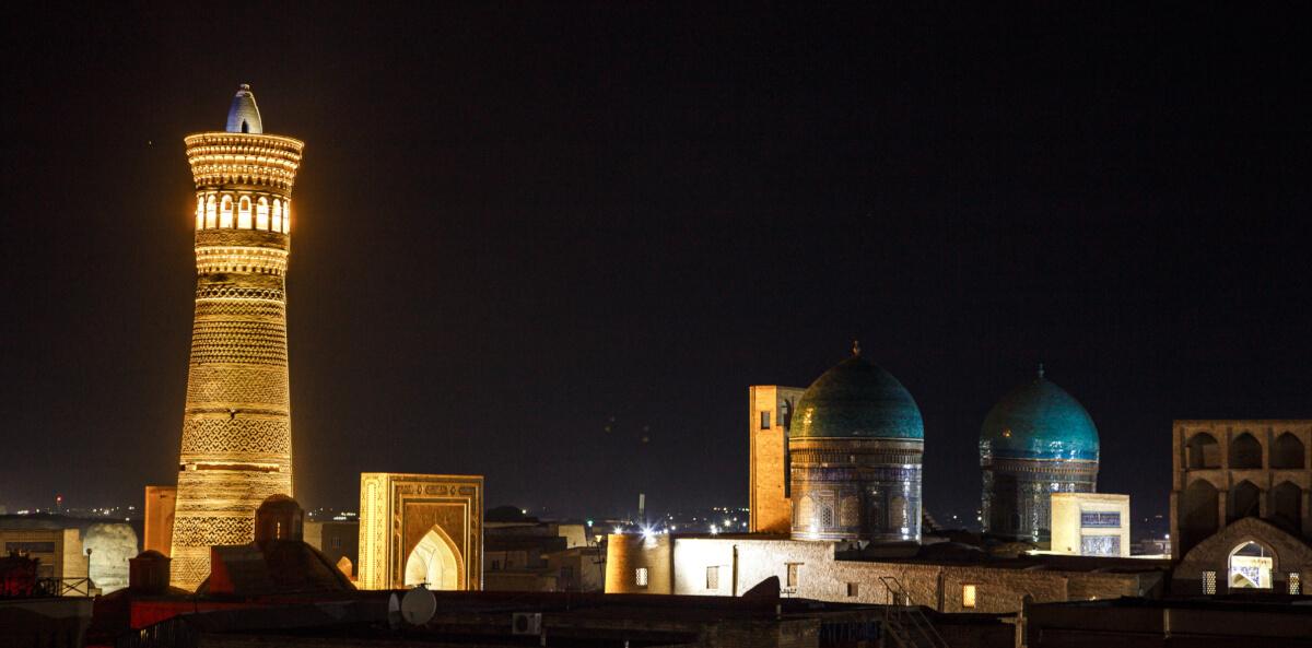 Bukhara at night