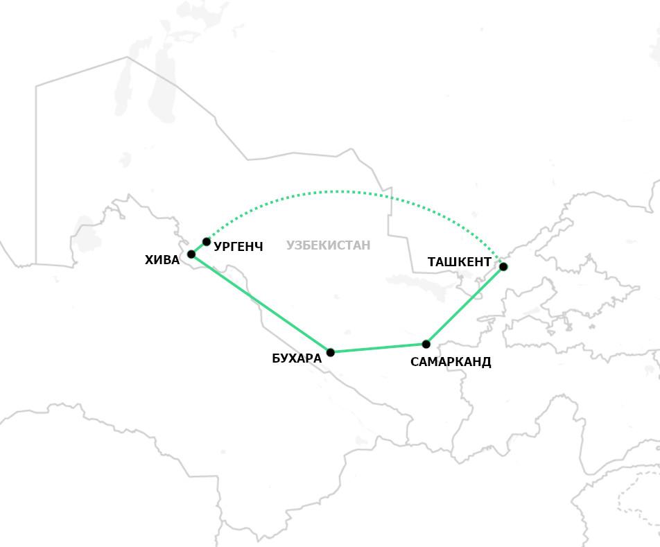 Классический тур по Узбекистану