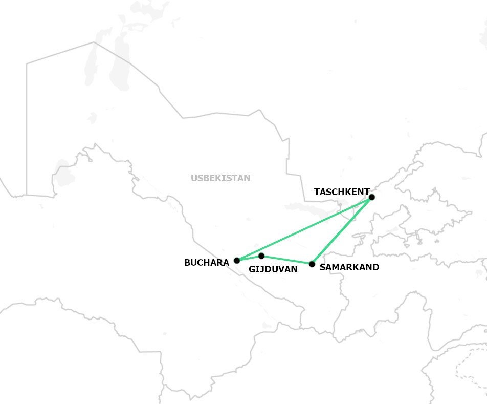 Uzbekistan in 6 Tagen