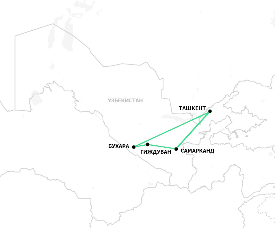 Тур Узбекистан за 6 дней