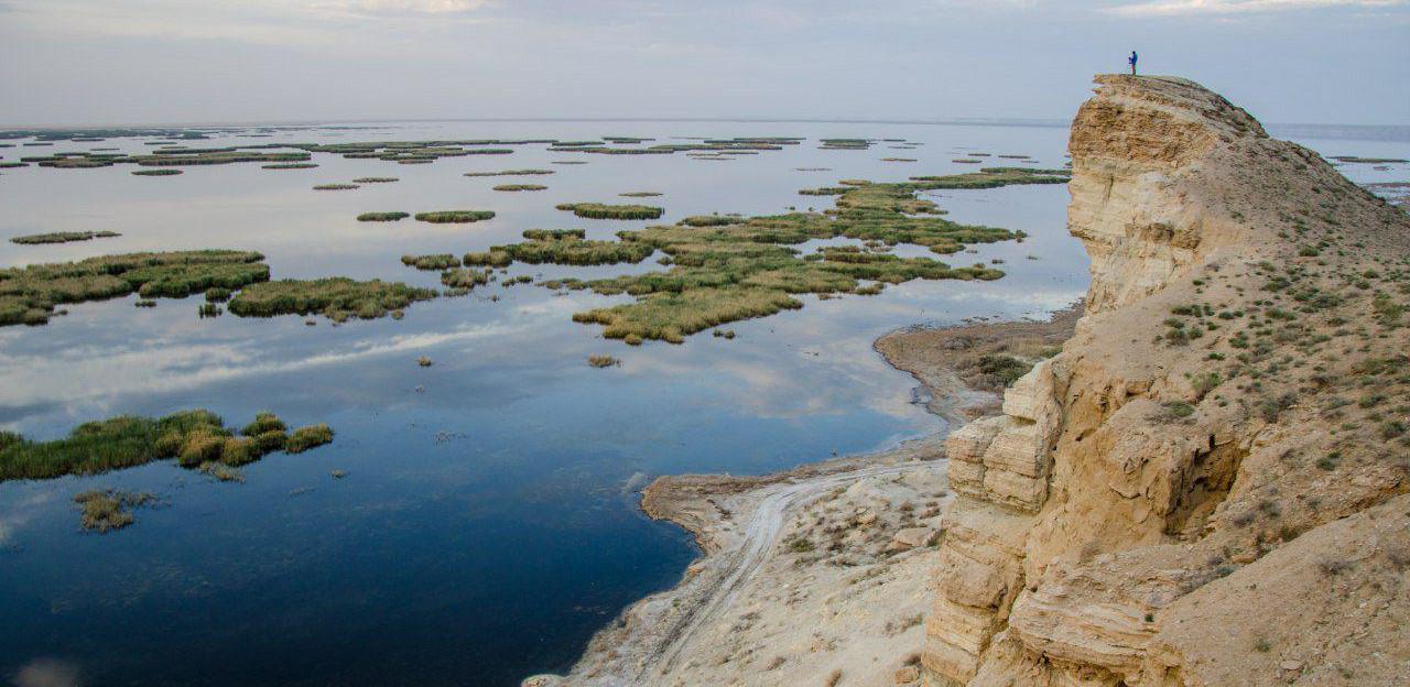Aral Sea present