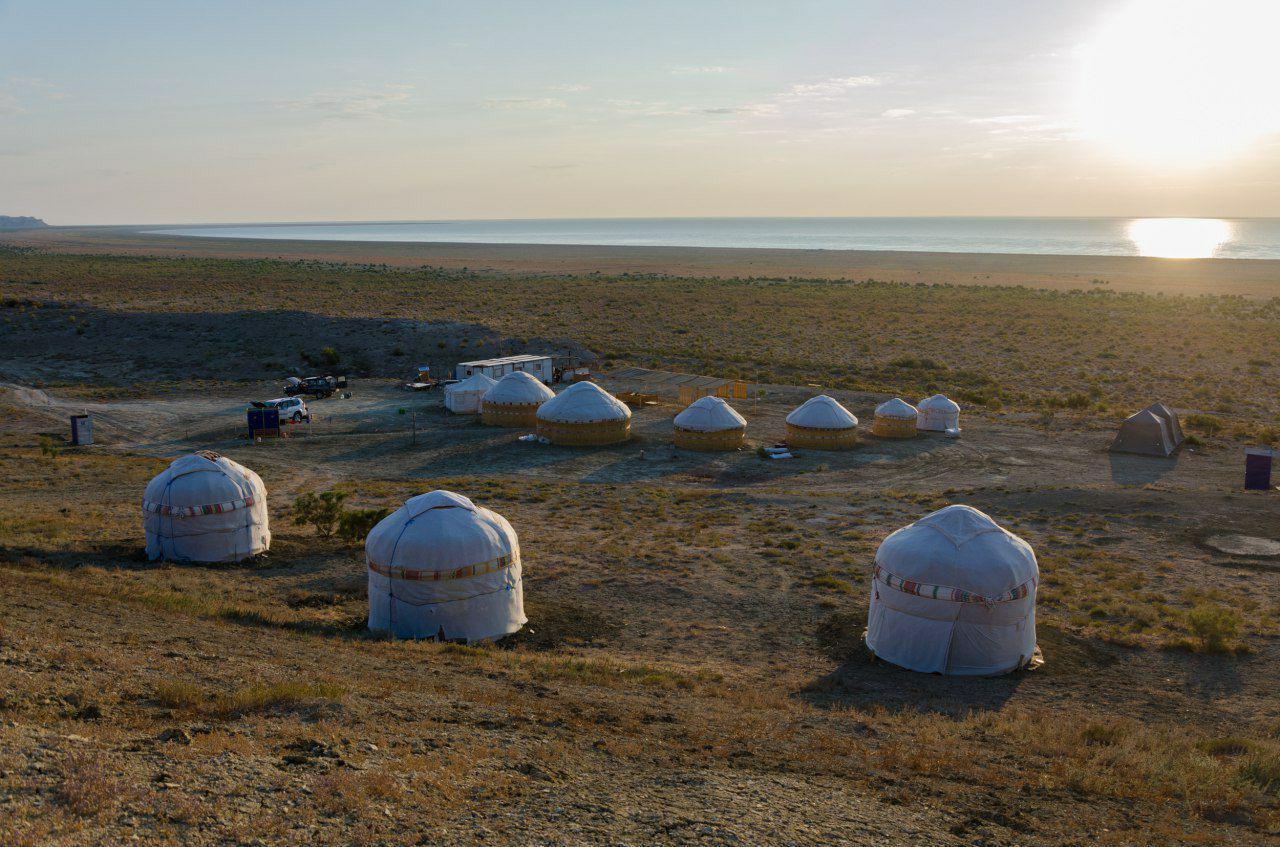 Yurt camp at the Aral Sea