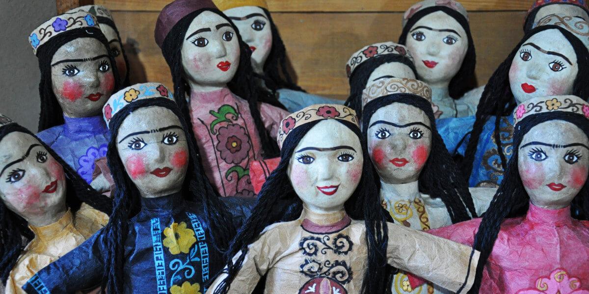Puppen von Seidenpapier