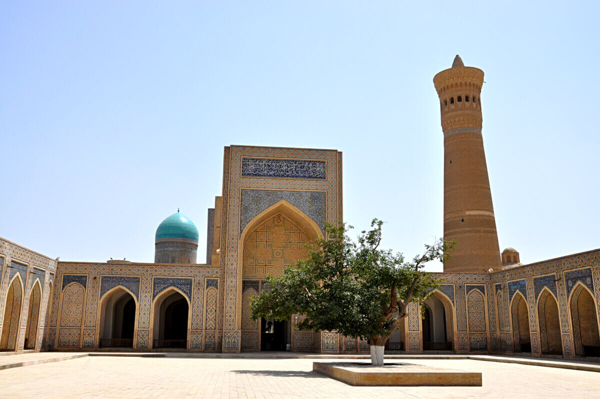 Bukhara, view to minaret Kalyan